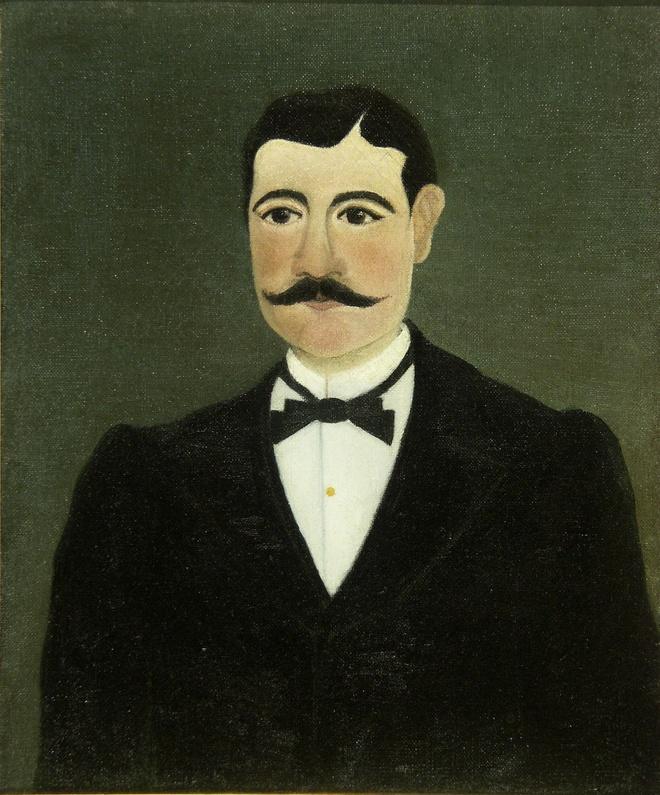 Henri Rousseau, dit Le Douanier Rousseau (1844-1910) Portrait de Frumence Biche en civil, 1892 Huile sur toile, 46 x 36 cm Nice