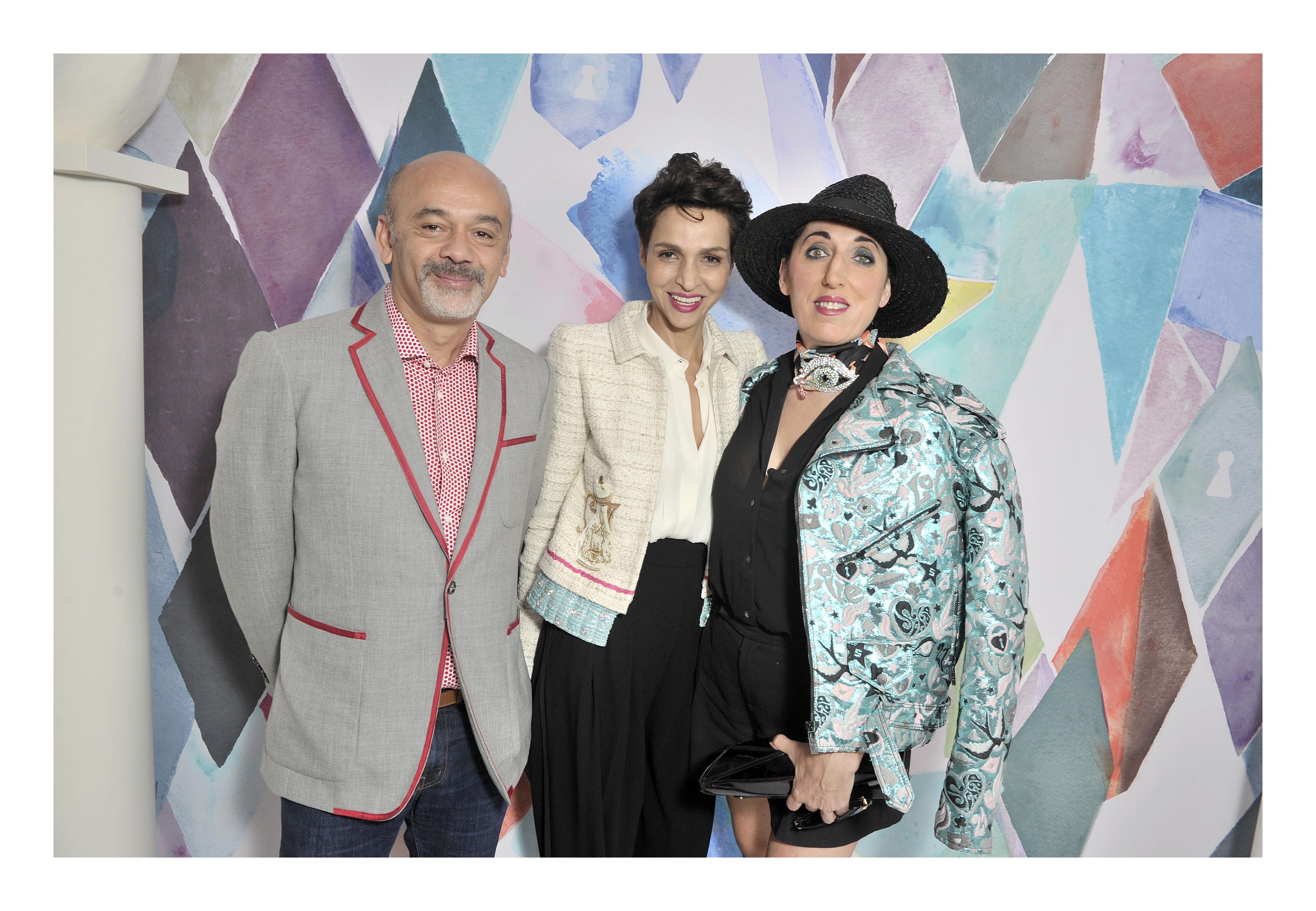 Christian Louboutin, Farida Khelfa & Rossy de Palma