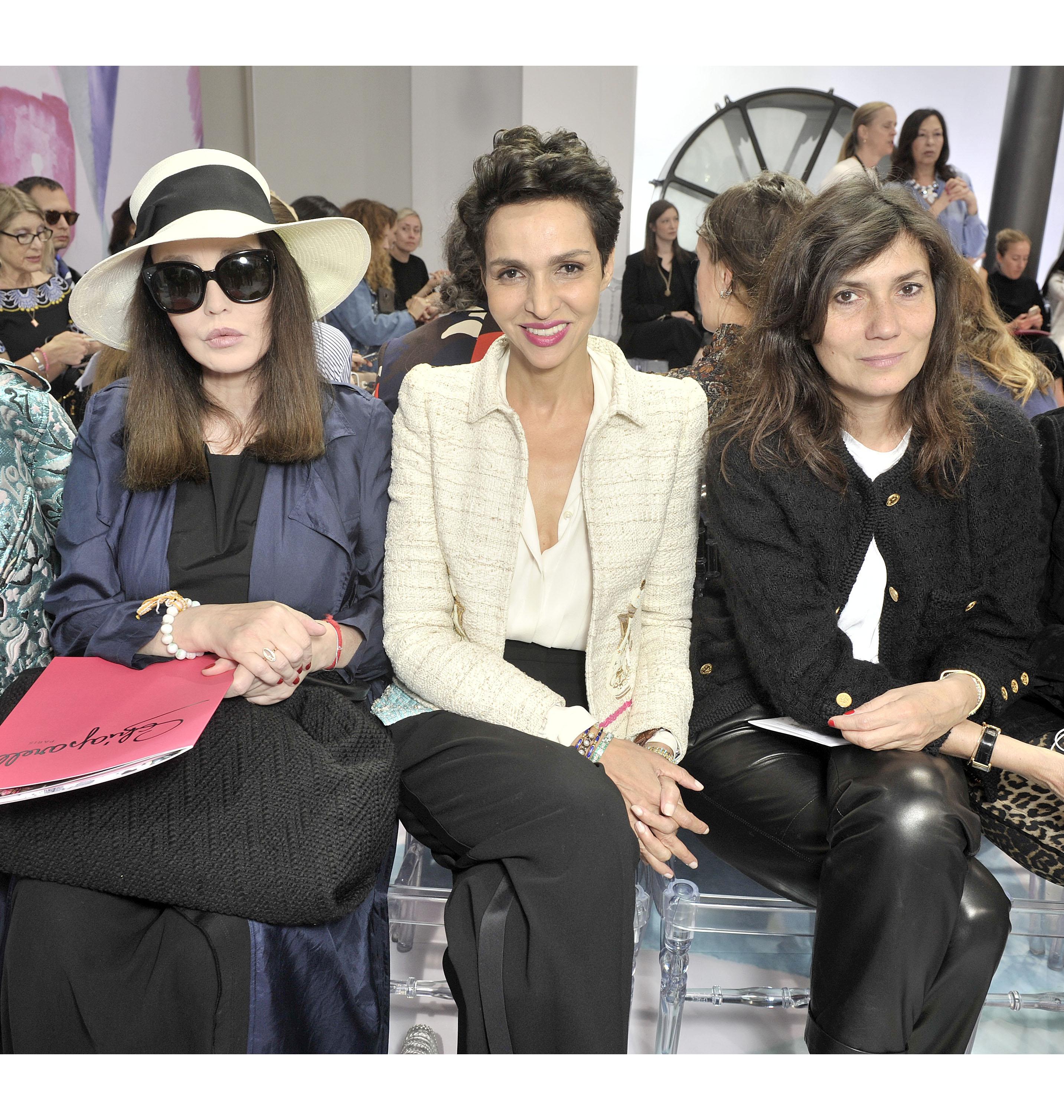 Isabelle Adjani, Farida Khelfa & Emmanuelle Alt