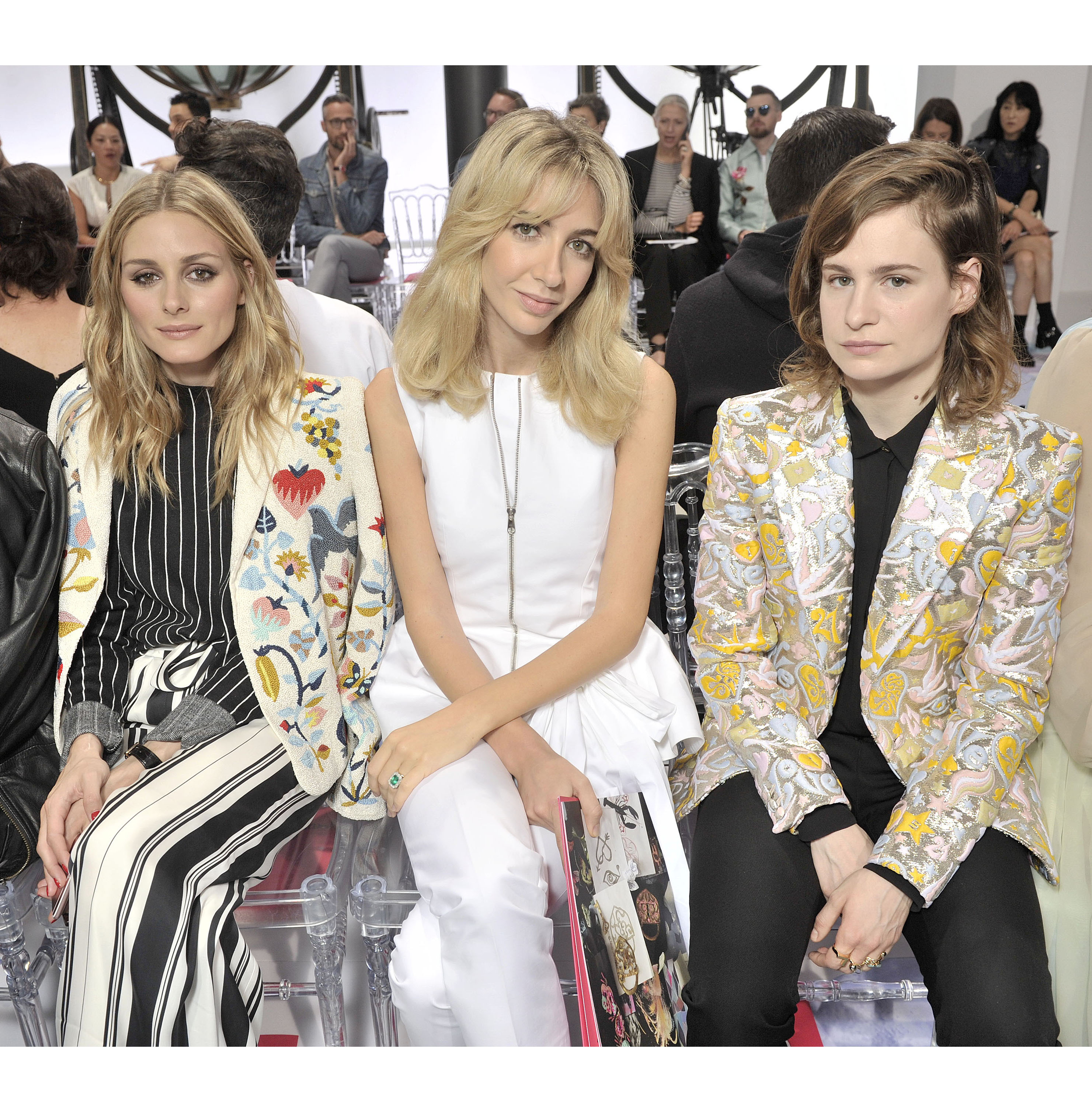 Olivia Palermo, Sabine Getty & Heloise Letissier:Christine and the Queens